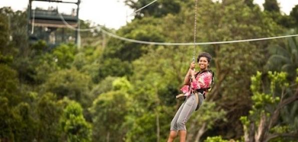 MegaZip I Cruisy Treetop Zipline to the Sea